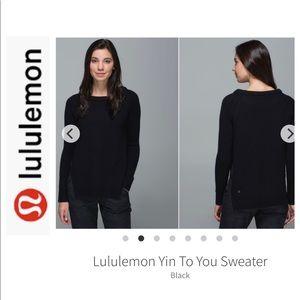 Lululemon Black Yin to You Sweater. Size 8